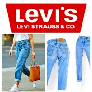 Levi's 550s classic relaxed fit mom jeans 12 long
